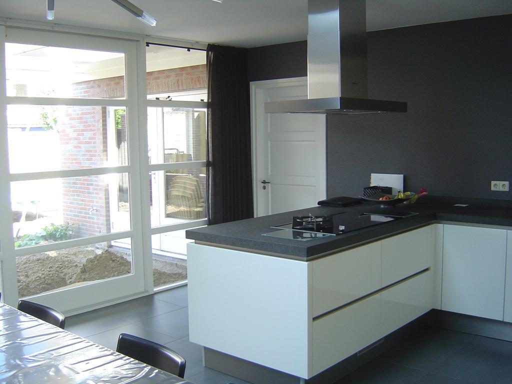 Aanbouw keuken bouwbedrijf hubers - Lounge en keuken in dezelfde kamer ...