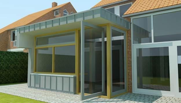 Uitbreiding woning te wijchen bouwbedrijf hubers - Uitbreiding keuken veranda ...
